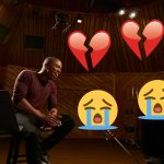 broken heart emojis and man singing
